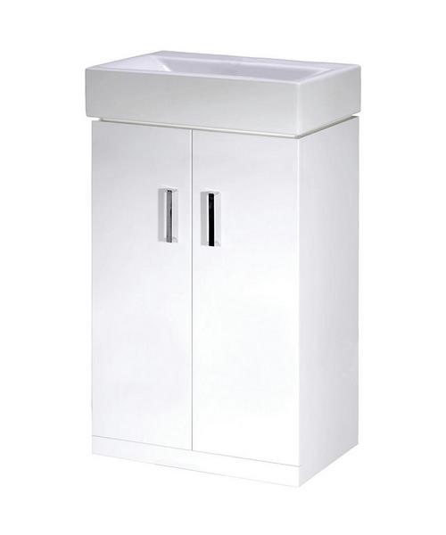 Lauren Checkers 450mm Floor Standing Cabinet And Basin