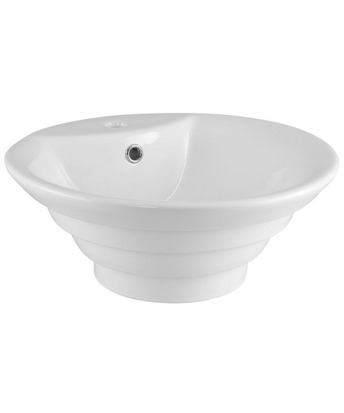 Nuie Premier 460mm Round Counter Top Vessel Basin With Overflow