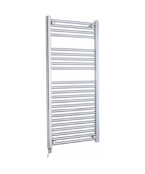 Lauren Electric Only 500 x 1100mm Heated Ladder Chrome Towel Rail
