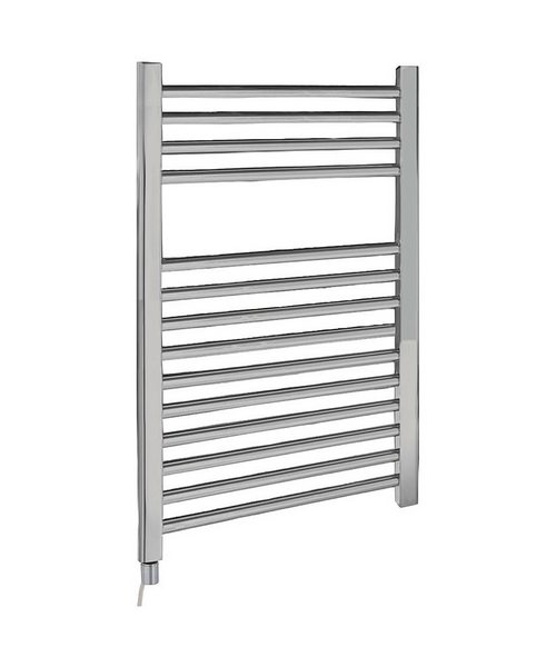 Lauren Electric Only 500 x 700mm Heated Ladder Chrome Towel Rail