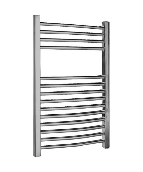 Lauren 500 x 700mm Chrome Curved Heated Towel Rail