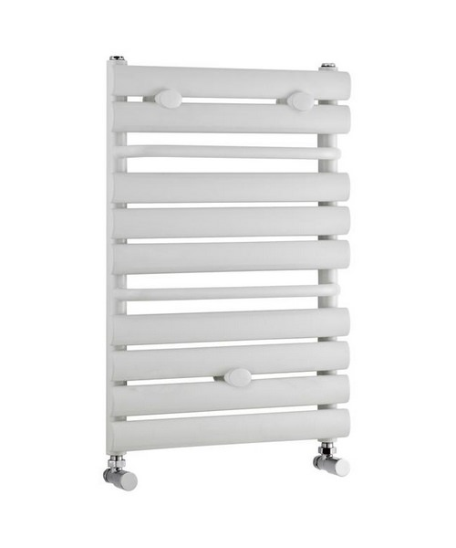 Lauren 445 x 650mm White Straight Heated Towel Rail