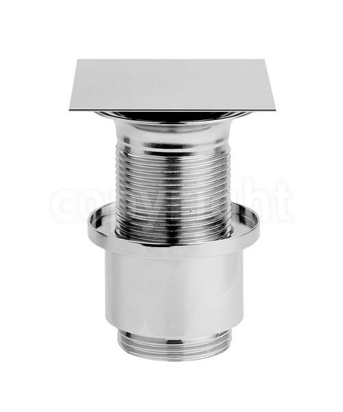 Crosswater Square Click Clack Basin Waste Chrome - Unslotted