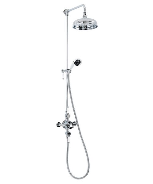 Phoenix HF Series Traditional Exposed Thermostatic Shower Set Chrome