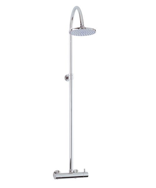 Phoenix Luxury Thermostatic Shower Valve With Round Rigid Riser Kit