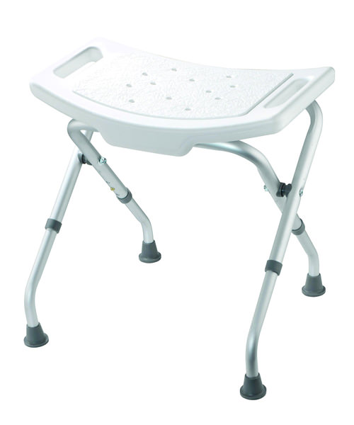 Croydex White Adjustable Bathroom And Shower Seat