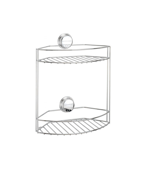 Croydex Stick N Lock Plus 2 Tier Basket 300mm Wide