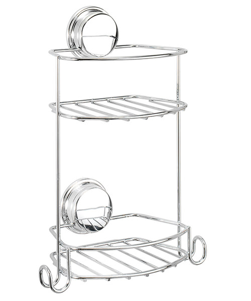 Croydex Stick N Lock Plus Compact 2 Tier Storage Basket