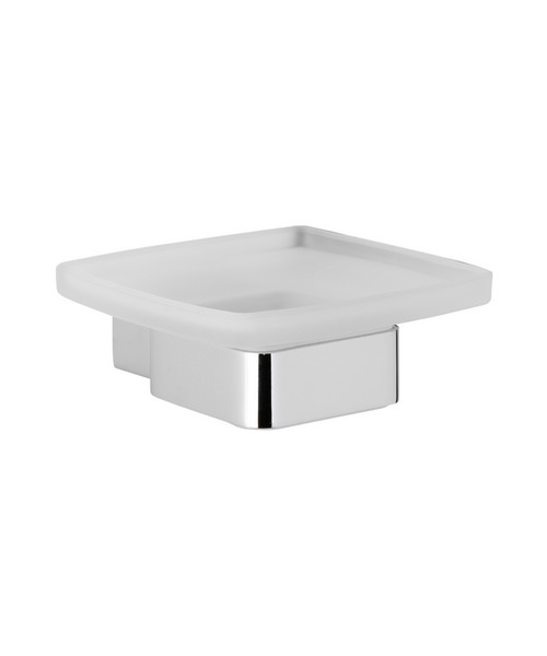 Roper Rhodes Horizon Soap Dish And Holder Frosted Glass