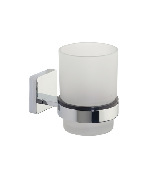 Roper Rhodes Glide Frosted Glass Tumbler And Holder