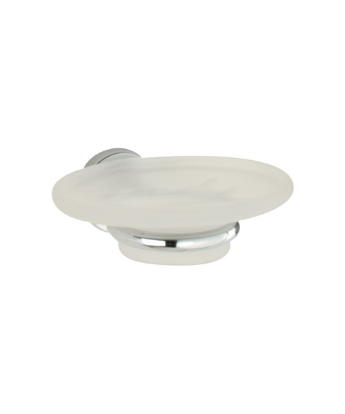 Roper Rhodes Minima Frosted Glass Soap Dish And Holder