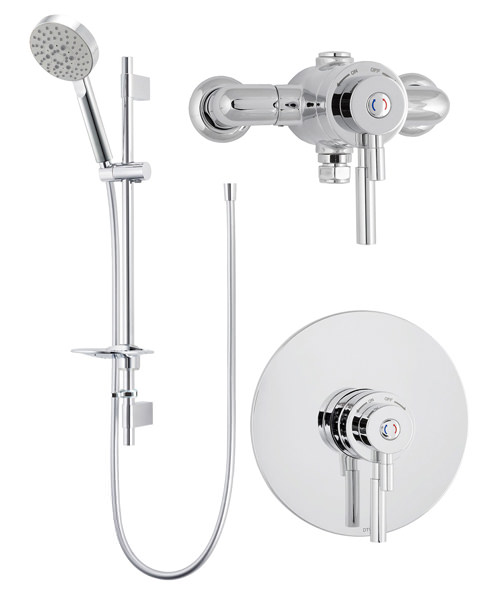 Deva Vision Concentric Thermostatic Shower Valve With 5 Function Kit