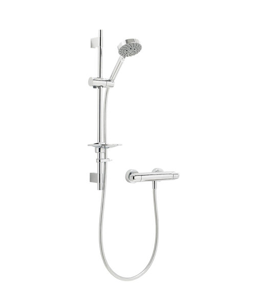 Deva Response Thermostatic Bar Shower Valve With Multi Mode Shower Kit