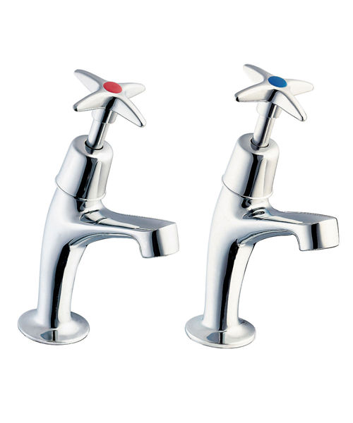 Deva Cross Handle Pair Of Kitchen Tap