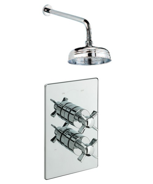 Tre Mercati Traditional Concealed Shower Valve With Over Head Arm And Rose