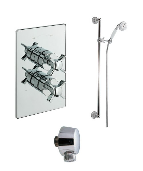 Tre Mercati Traditional Concealed Thermostatic Shower Valve With Shower Set