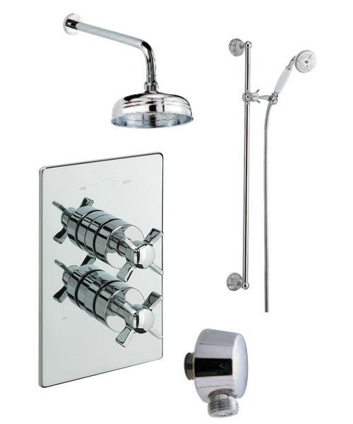 Tre Mercati Traditional Concealed 2 Way Diverter Shower Valve With Shower Set