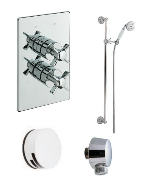Tre Mercati Traditional 2 Way Diverter Concealed Shower Valve With Shower Set
