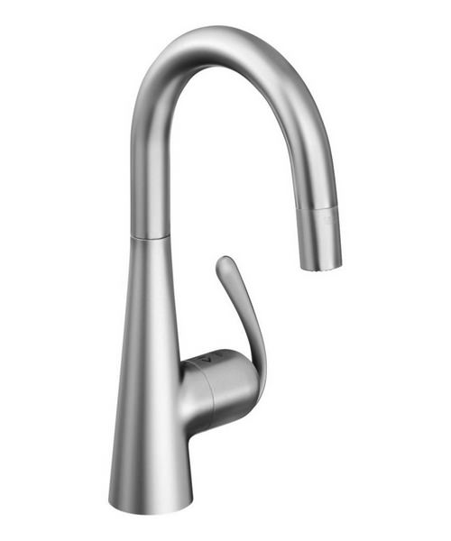Grohe Zedra Sink Mixer Tap With Pull Down Spray Stainless Steel