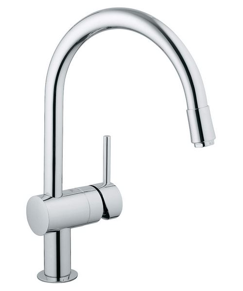 Grohe Minta Sink Mixer Tap With Extractable Mousseur