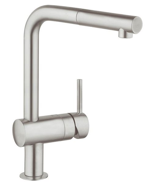 Grohe Minta Sink Tap With Pull Out Spout Extractable Mousseur Supersteel