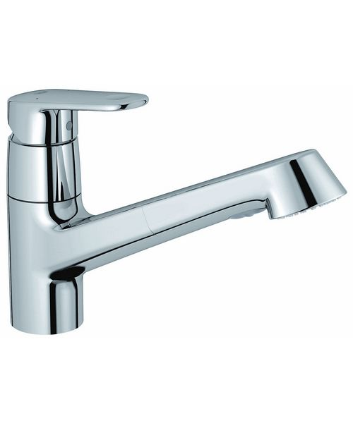 Grohe Europlus Low Spout Sink Mixer Tap With Pull Out Spray Chrome