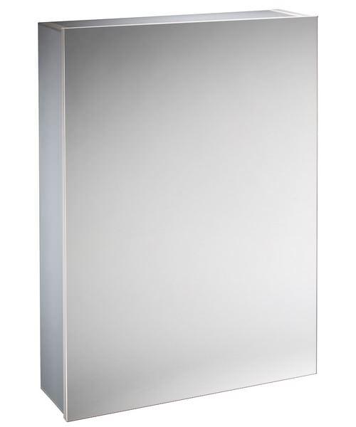 Tavistock Balance Aluminium Single Mirror Door Cabinet - W 440 x H 650mm