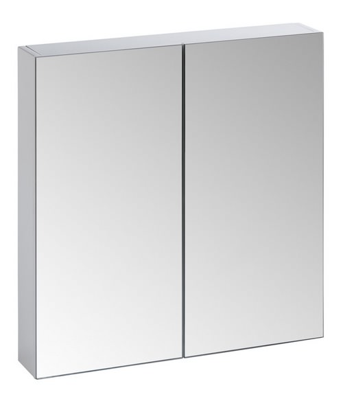 Tavistock Observe White Double Mirror Door Cabinet - W 650 x H 600mm
