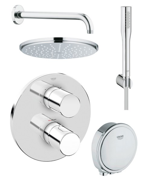 Grohe Grohtherm 3000 Cosmopolitan Bath And Shower Shower Solution Pack 4