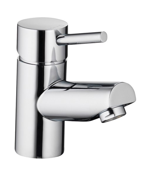 Pura Xcite Basin Single Lever Chrome Mixer Tap With Clicker Waste