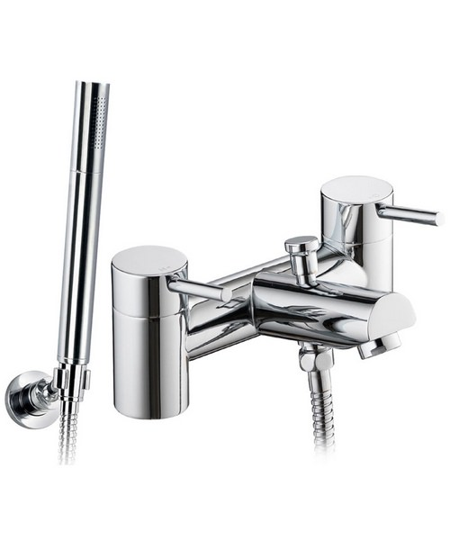 Pura Xcite Deck Mounted Bath/Shower Mixer Tap With Handset And Hose