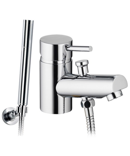 Pura Xcite Deck Mounted Mono Bath/Shower Mixer Tap With Kit
