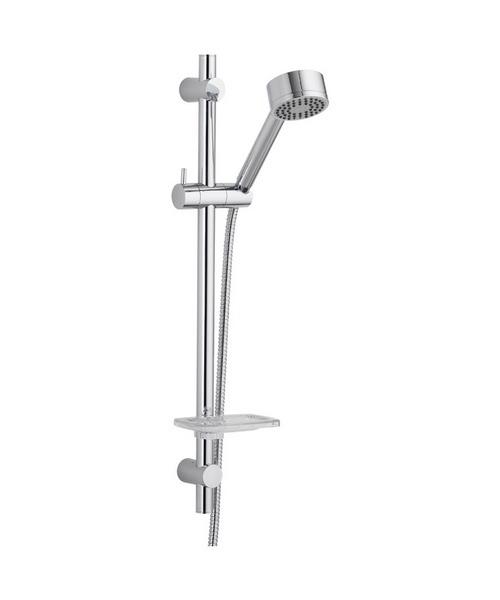 Pura Xcite Shower Riser Rail Kit With Handset And Hose