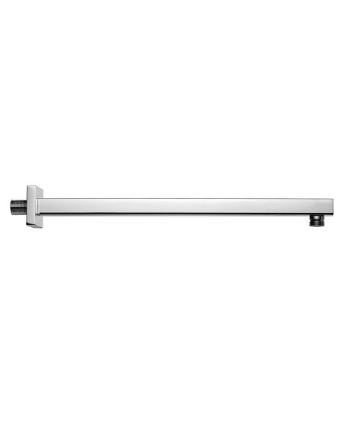 Pura Square 400mm Wall Mounted Chrome Finish Shower Arm