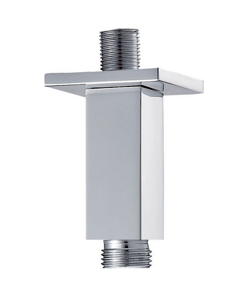 Pura Square 75mm Ceiling Mounted Chrome Finish Shower Arm