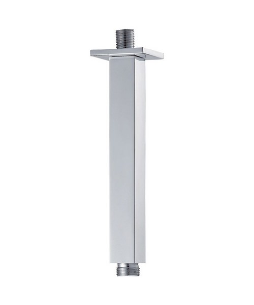 Pura Square 200mm Ceiling Mounted Chrome Finish Shower Arm
