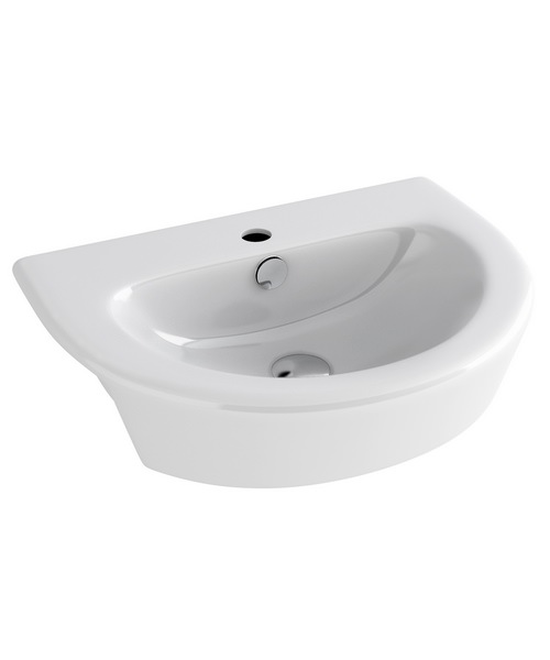Pura Arco 1 Tap Hole 550mm Semi Countertop Basin