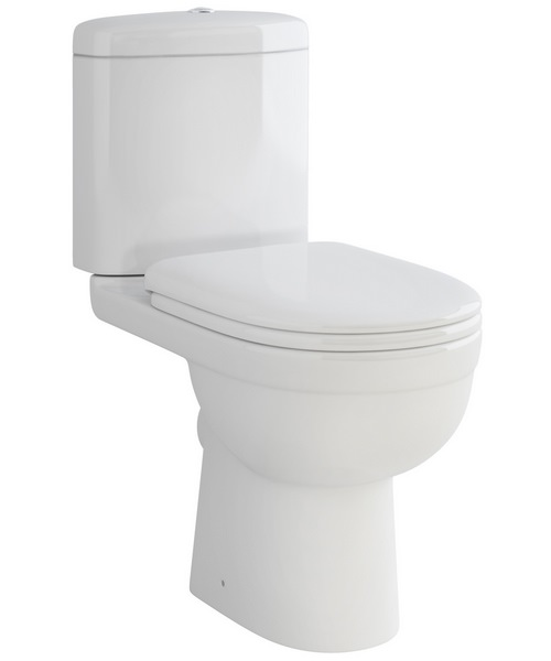 Pura Ivo Compact Close Coupled White Pan With Dual Flush Cistern