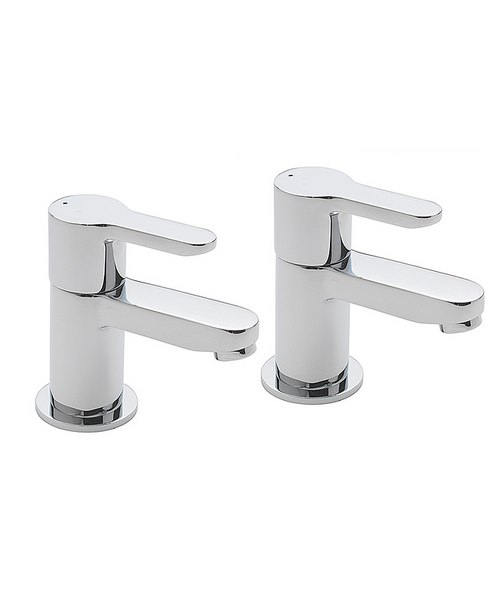 Tre Mercati Lollipop Chrome Basin Taps Pair
