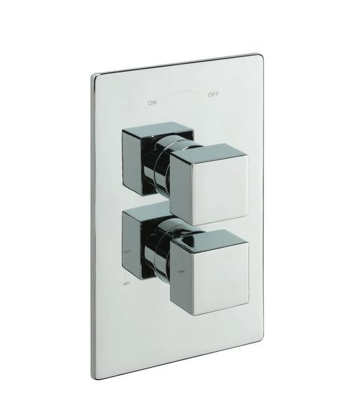 Tre Mercati Square Concealed Thermostatic Shower Valve With 2 Way Diverter