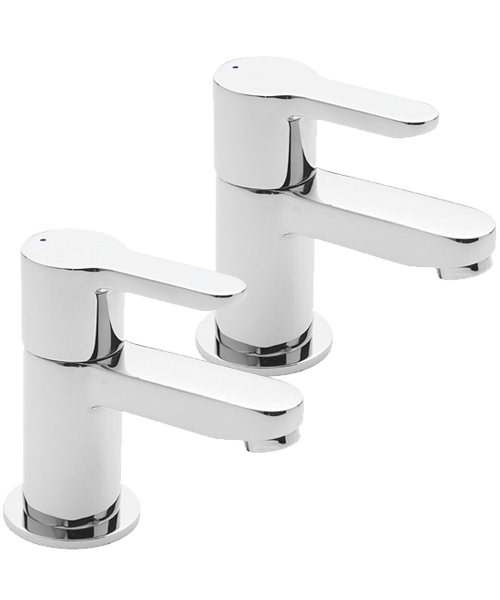 Tre Mercati Lollipop Pair Of Bath Taps Chrome