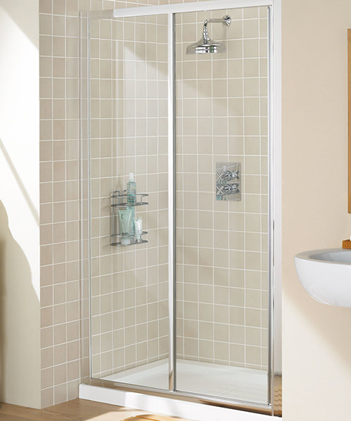 Lakes Classic Framed Slider Shower Door 1000mm Silver
