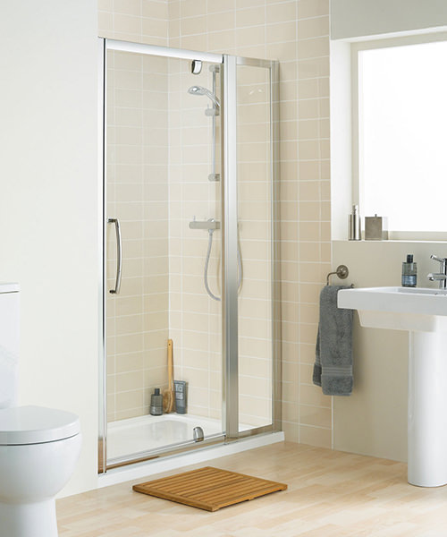 Lakes Classic Clear Glass In-line Panel Pack 350 x 1850mm