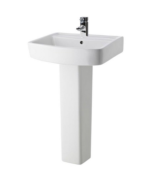 Lauren Bliss 520mm 1 Tap Hole Basin And Full Pedestal