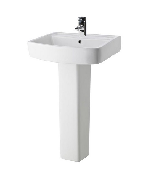 Lauren Bliss 600mm 1 Tap Hole Basin And Full Pedestal