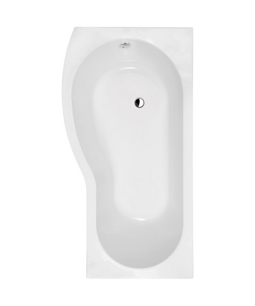 Lauren Curved B-Shaped 1700 x 900mm Left Hand Acrylic Shower Bath