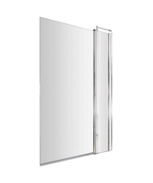 Lauren Square 985-1005 x 1435mm Bath Screen With Fixed Panel