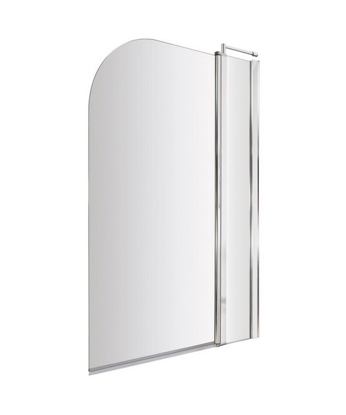 Lauren Straight 985-1005 x 1435mm Bath Screen With Fixed Panel