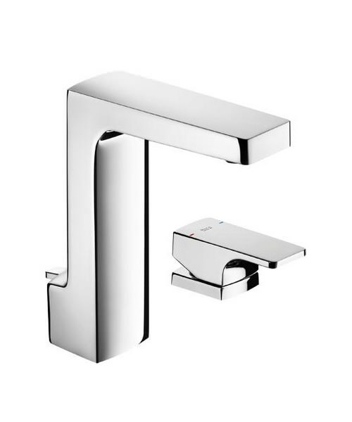 roca l90 basin mixer tap with separate handle and pop up waste