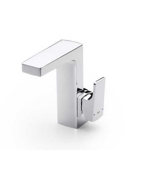 Roca L90 Basin Mixer Tap With Side Handle And Pop Up Waste